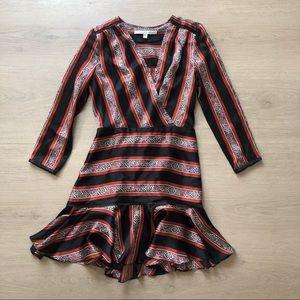 Veronica Beard | Black Ivy Silk Flounce Dress